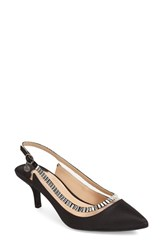 J. Renee Women's J.Renee 'Ellyn' Embellished Slingback Pump Black