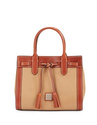 Dooney And Bourke Colorblocked Leather Satchel Desert