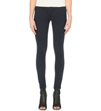 Karen Millen Skinny Stretch Denim Leggings Blue
