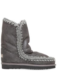 Mou 20Mm Eskimo 24 Metallic Shearling Boots Grey