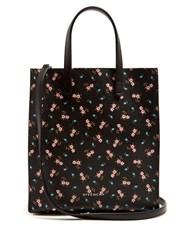 Givenchy Hibiscus Coated Canvas Tote Black Multi