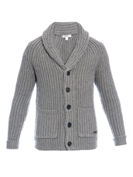 Burberry Chunky Knit Wool And Cashmere Blend Cardigan