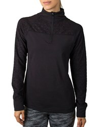 Jockey Burnout Half Zip Top Black