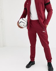 Puma Football Tracksuit In Burgundy With Black Panels Exclusive To Asos Red