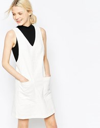 Y.A.S Foral Jacquard Shift Dress Foral White