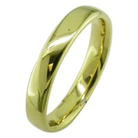 Ewa 18Ct Yellow Gold 4Mm Larger Sized Court Wedding Ring Yellow Gold