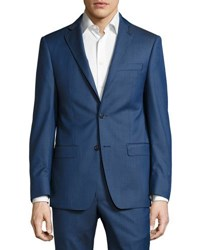 Michael Kors Slim Fit Two Button Two Piece Suit Blue
