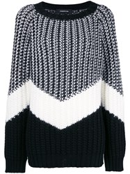 Barbara Bui Striped Jumper Black