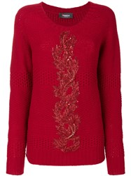 Jo No Fui Embroidered Knit Sweater Polyamide Polyester Cashmere Glass Xs