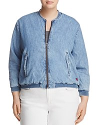 Lucky Brand Plus Denim Bomber Jacket Sway