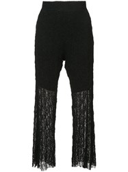 Lost And Found Ria Dunn Flared Cropped Trousers Black