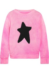 The Elder Statesman Intarsia Cashmere Sweater Pink
