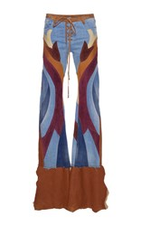 Roberto Cavalli Patchwork Flared Jeans Multi