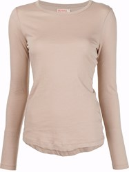 Organic By John Patrick Curved Hem T Shirt Nude And Neutrals