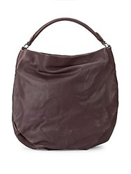 bbc81c65bc Liebeskind Debossed Logo Leather Hobo Bag Plum