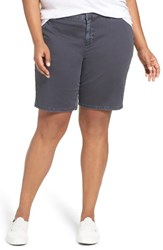 Sejour Plus Size Women's Bermuda Shorts Grey Ebony