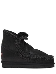 Mou 40Mm Eskimo 18 Metallic Shearling Boots Black