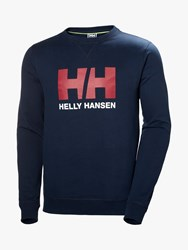 Helly Hansen Logo Crew Neck Sweatshirt Navy