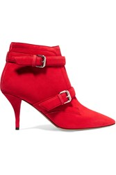 Tabitha Simmons Fitz Suede Ankle Boots Red