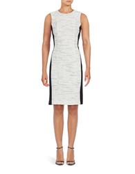 Calvin Klein Contrast Side Sleeveless Sheath Dress White
