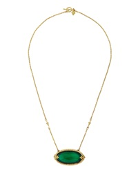 Armenta Green Onyx And Diamond Fleur De Lis Oval Pendant Necklace Small