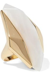 Noir Light Beam 14 Karat Gold Plated Resin Ring Gold