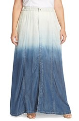 Plus Size Women's Standards And Practices 'Peyton' Chambray Maxi Skirt