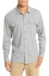 Men's Patagonia 'Fjord' Regular Fit Organic Cotton Flannel Shirt Feather Grey
