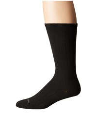 Feetures Wide Rib Ultra Light Crew Sock Black Crew Cut Socks Shoes
