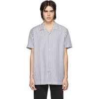 Harmony Navy And White Striped Christophe Shirt