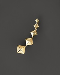 Zoe Chicco 14K Yellow Gold Graduated Pyramid Single Ear Cuff Right
