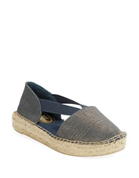Kenneth Cole Reaction Espanol Espadrilles Flats Navy