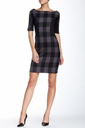 Eva Franco Mckinnin Plaid Dress Gray