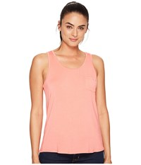 Prana Foundation Scoop Neck Tank Top Summer Peach Women's Sleeveless Beige
