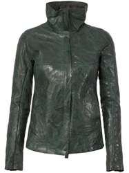 Isaac Sellam Experience Padded Leather Jacket Green