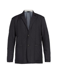 Dunhill Quilted Blazer Navy