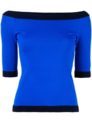 Boutique Moschino Boat Neck Jumper Blue