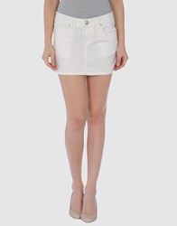 7 For All Mankind Seven7 Skirts Mini Skirts Women Ivory