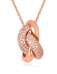 Levian 0.55 Tcw Diamond And 14K Strawberry Gold Necklace Rose Gold