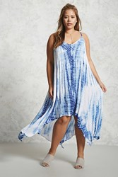 Forever 21 Plus Size Tie Dye Cami Dress Blue White Onerror Javascript Fnremovedom 'Color