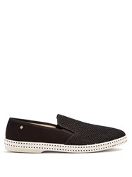 Rivieras Classic 20 Canvas Loafers Black