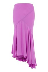Topshop Evelyn Longline Skirt By Unique Bright Pink