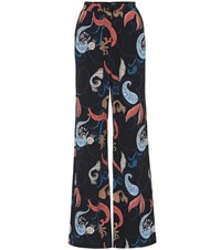 See By Chloe High Rise Printed Crepe Pants Multicoloured