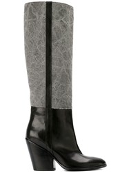 A.F.Vandevorst Denim Boots Grey