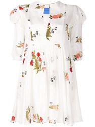 Macgraw Piper Floral Print Dress White