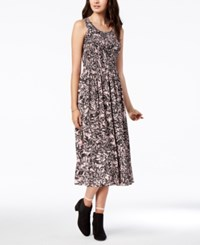 Maison Jules Smocked Midi Dress Created For Macy's Lily Branch