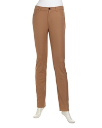 Lafayette 148 New York Curvy Slim Leg Stretch Knit Jeans Teak