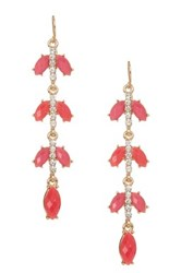 Natasha Accessories Linear Dangle Earrings Pink