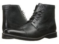 Rockport Classic Break Cap Toe Zip Boot Dark Shadow Leather Men's Lace Up Boots Black