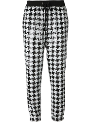 Michael Michael Kors Sequinned Houndstooth Track Pants Black
